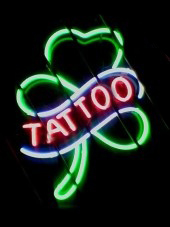 Shamrock Social Club Tattoo Sign